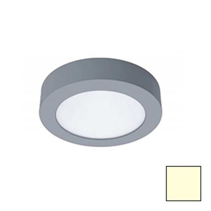 Imagen de Downlight LED Superficie Redondo Plata 18W Cálido