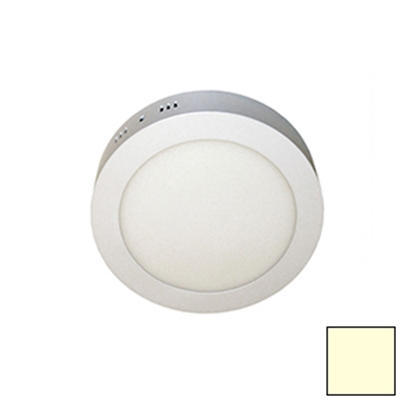 Imagen de Downlight LED Superficie Redondo Blanco 18W Cálido