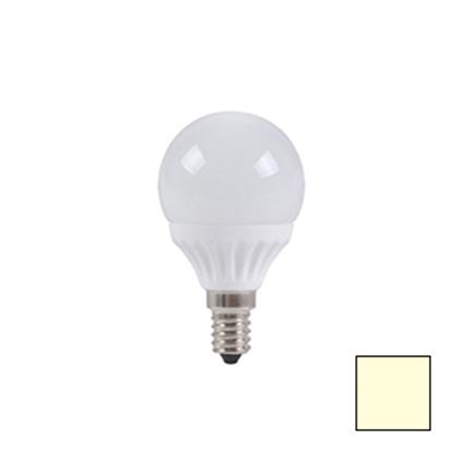 Imagen de Bombilla LED Esférica E14 4W EPISTAR Blanco Cálido