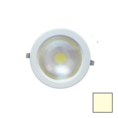 Imagen de Downlight LED COB Redondo Blanco 40W Blanco Cálido