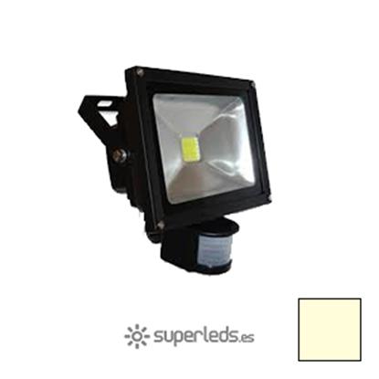 Imagen de Foco LED 20W Sensor Movimiento Blanco Cálido