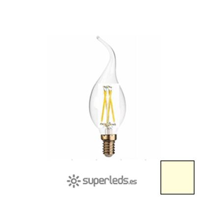 Imagen de Bombilla Filamento LED Vela Llama E14 4W - Blanco Cálido