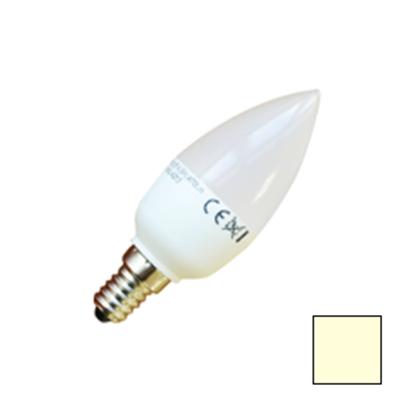Imagen de Lote 10 Bombillas LED Vela E14 6W Blanco Cálido