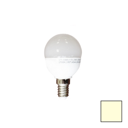 Imagen de Lote 10 Bombillas LED P45 Esférica E14 6W Blanco Cálido