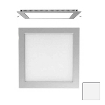 Imagen de Downlight LED Cuadrado Plata 18W Blanco Natural