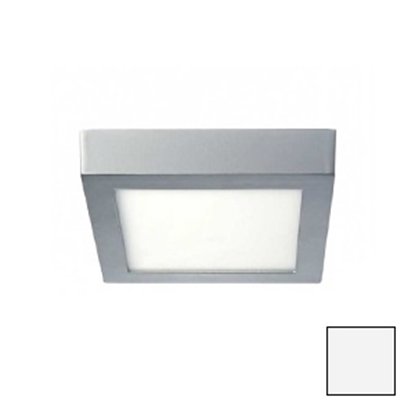 Imagen de Downlight LED Superficie Cuadrado Plata 18W Natural