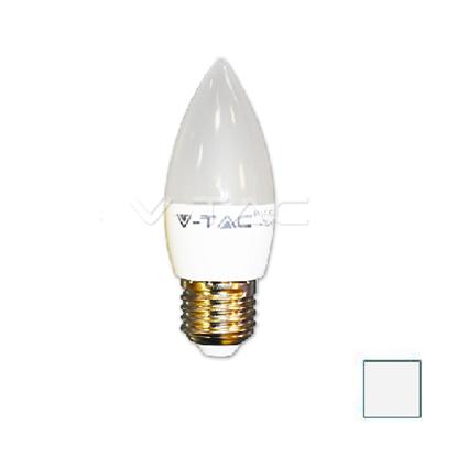 Imagen de Lote 10 Bombillas LED Vela E27 6W Blanco Natural