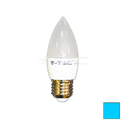 Imagen de Lote 10 Bombillas LED Vela E27 6W Blanco Frío
